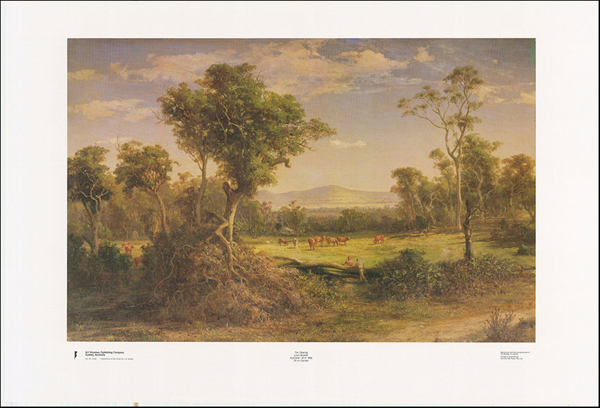 AW LB261 The Clearing by Louis Buvelot 1814 to 1888 101x68cm on paper