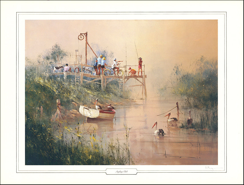 AW LERH1 Angling Club by Robert Hagan LE of 1500 86x64cm on paper