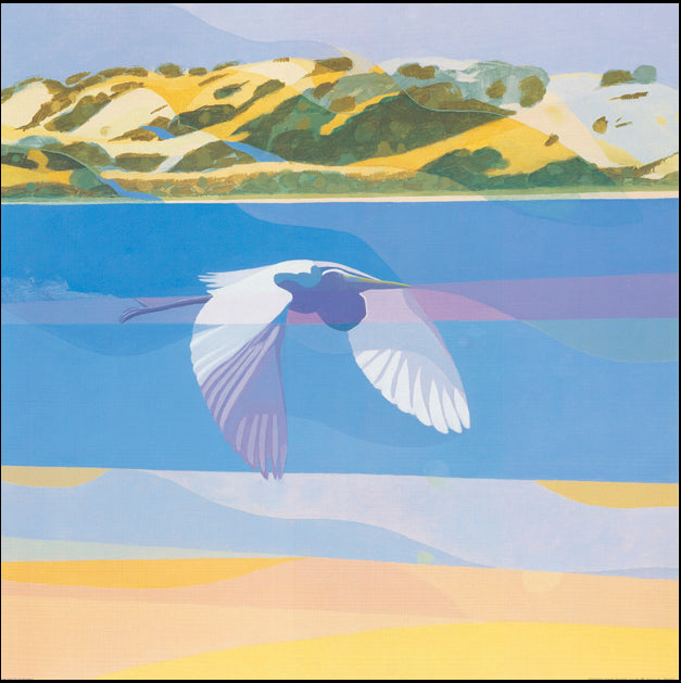 AW LK653 Lars Knudsen 70x70cm on paper, Great Egret