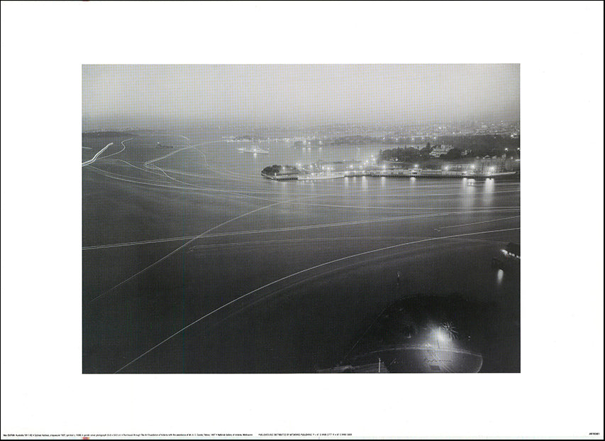 AW MD801 Sydney Harbour crepuscle 1937 NGV by Max Dupain 70x50cm on paper