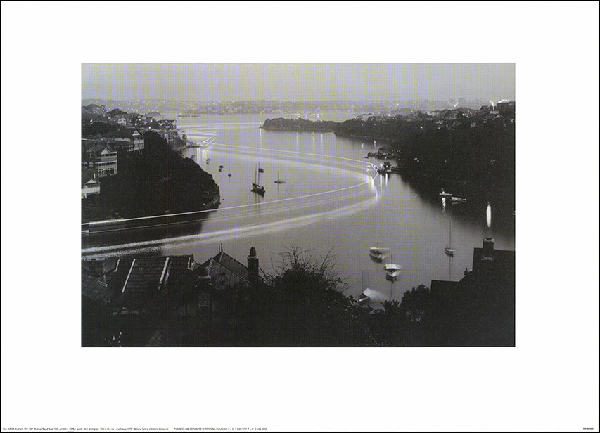 AW MD802 Mosman Bay at Dusk 1937 NGV by Max Dupain 70x50cm on paper