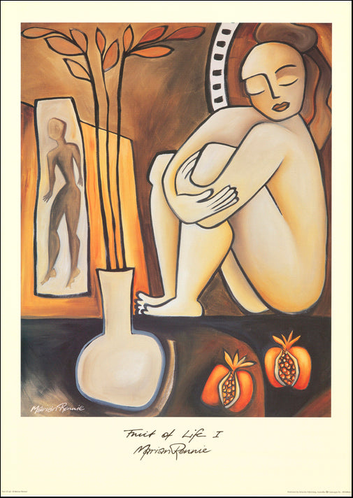 AW MR461 Marian Rennie 50x70cm on paper, Fruit of life 1