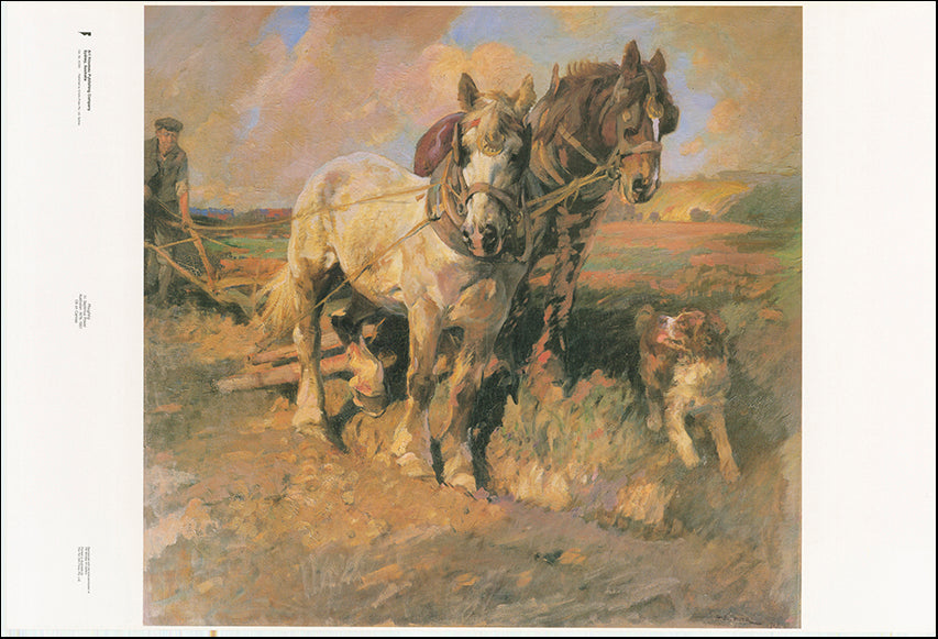 AW SP260 Ploughing by H Septimus Power 1878 to 1951 from Bendigo Art Gallery 101x68cm on paper