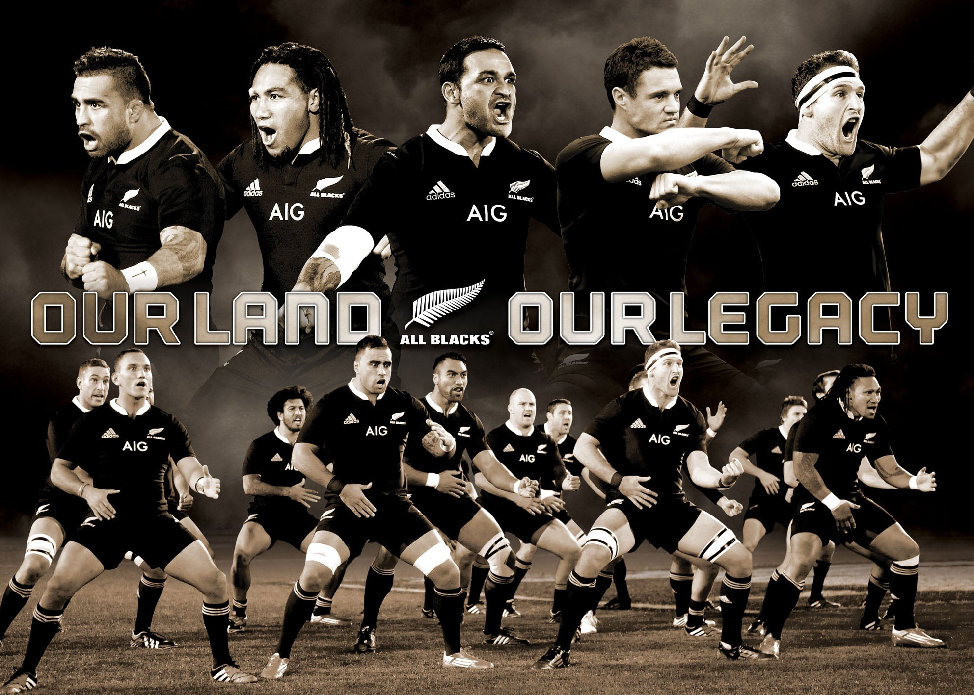 Our Land our Legacy All Blacks 70x50cm paper - Chamton