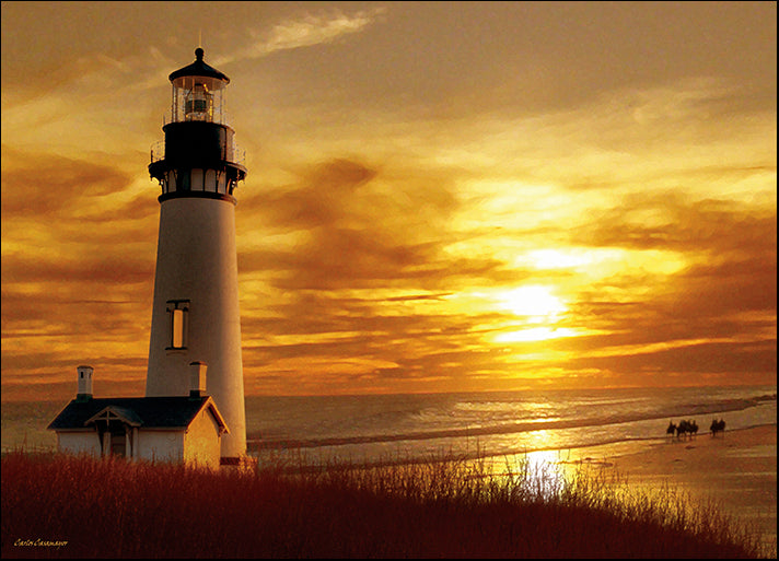 CARCAS91829 Lighthouse at Sunset, by Carlos Casamayor, available in multiple sizes
