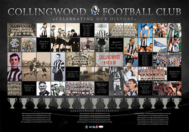 Collingwood Football Club Celebrating our History 100x69cm paper - Chamton