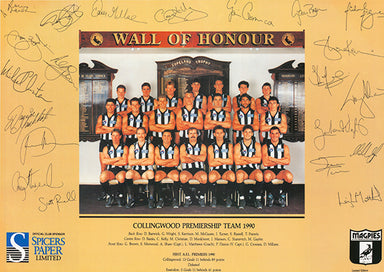 Collingwood Wall of Honour 60x42cm paper - Chamton