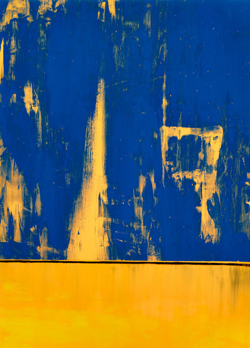 92183 Blue Yellow Abstract, by Coppo, available in multiple sizes