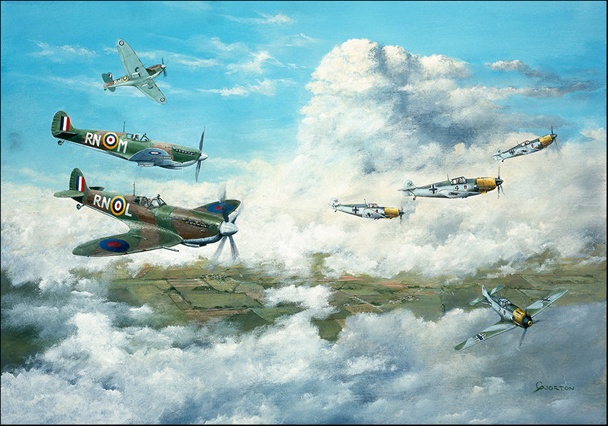 DDFA 10193 Figher Planes WW2 Supermarine Spitfire, available in multiple sizes