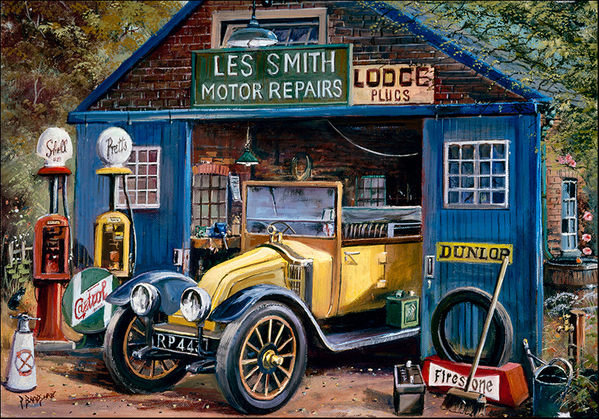 DDFA 9892 Vintage Car Lee Smith Motor Repairs Dunlop, available in multiple sizes