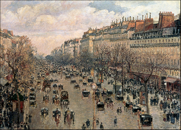 DP-119373 Boulevard Montmartre, Afternoon Sun, 1897, by Camille Pissarro available in multiple sizes