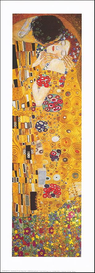 EU GK1001 The Kiss by Gustav Klimt 25x70cm on paper