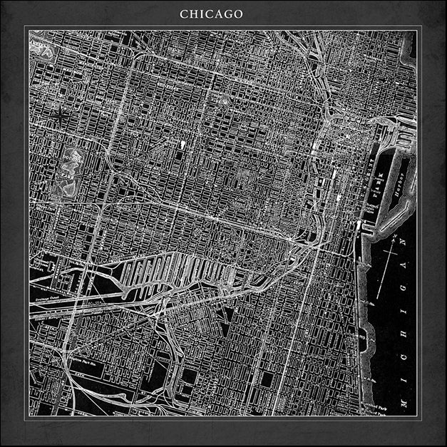 87105 Chicago Map Square, by GI artlab, available in multiple sizes