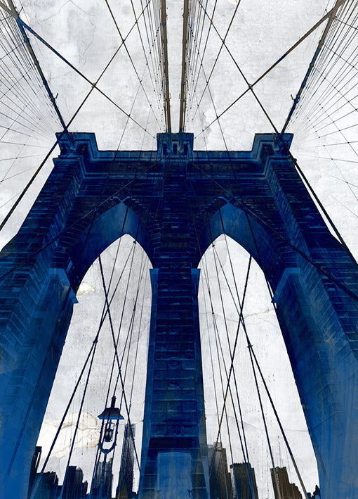 88934 Brooklyn Bridge Blue, by GI artlab, available in multiple sizes