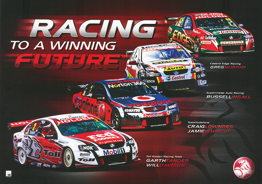 Holden Racing to a Winning future 68x48cm paper - Chamton
