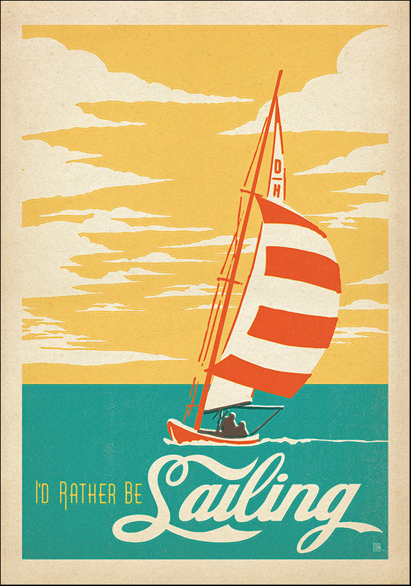 JOEAND116351 I'd rather be Sailing, available in multiple sizes