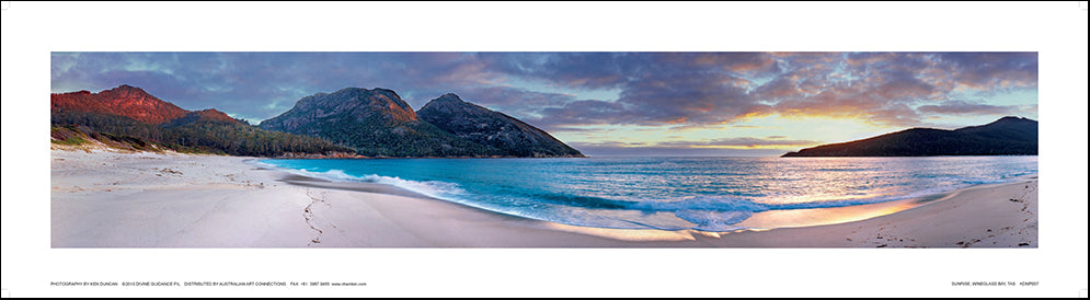 Ken Duncan KDMP007 Sunrise Wine Glass Bay 91x24cm paper - Chamton