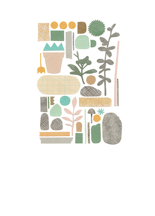 99974 Plant Collage 2, by Marie, available in multiple sizes