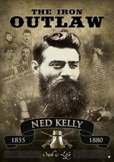 Ned Kelly Iron Outlaw, Paper or Canvas various sizes - Chamton
