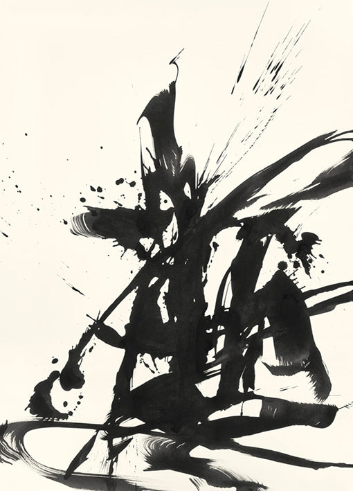 91896 Abstract Calligraphy Ink, by Ngo, available in multiple sizes