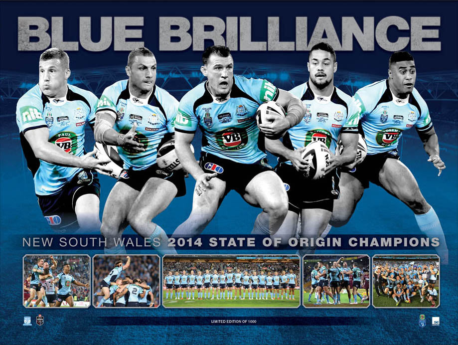 Rugby Blue Brilliance 70x50cm paper - Chamton