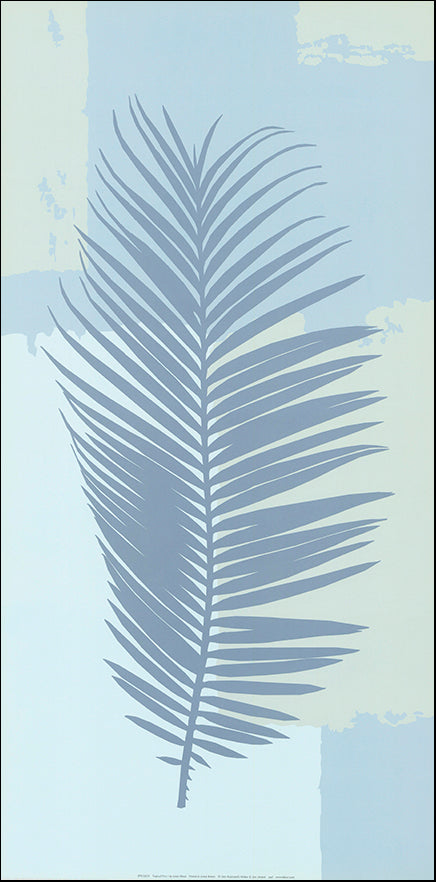 R SPK2633 Tropical Fern 1 by Linda Wood 30x61cm on paper