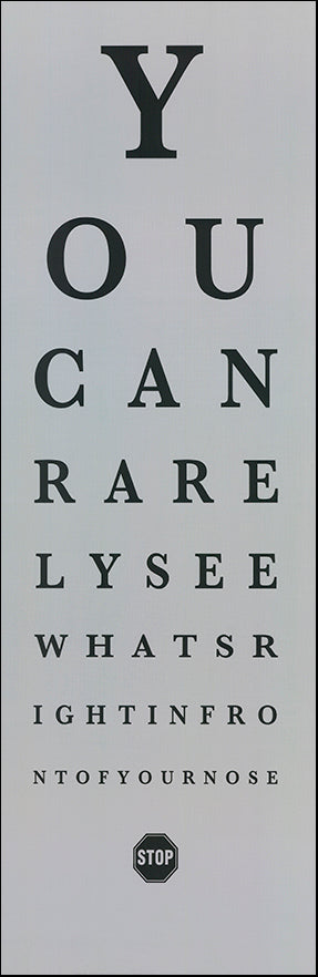 R SPN4430 Eye Chart 2 by The Vintage Collection 30x91cm on paper