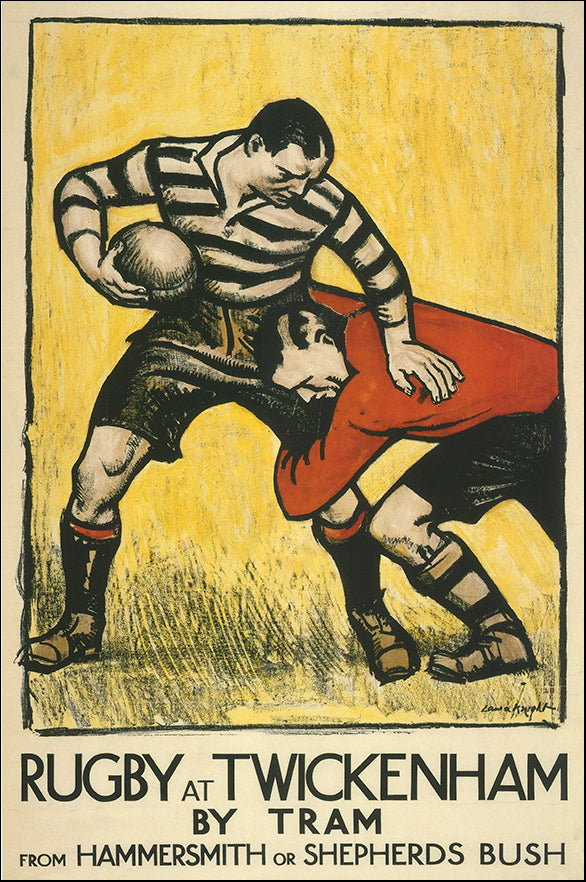 R SPQ5582 Rugby at Twickenham by The Vintage Collection 40x60cm on paper