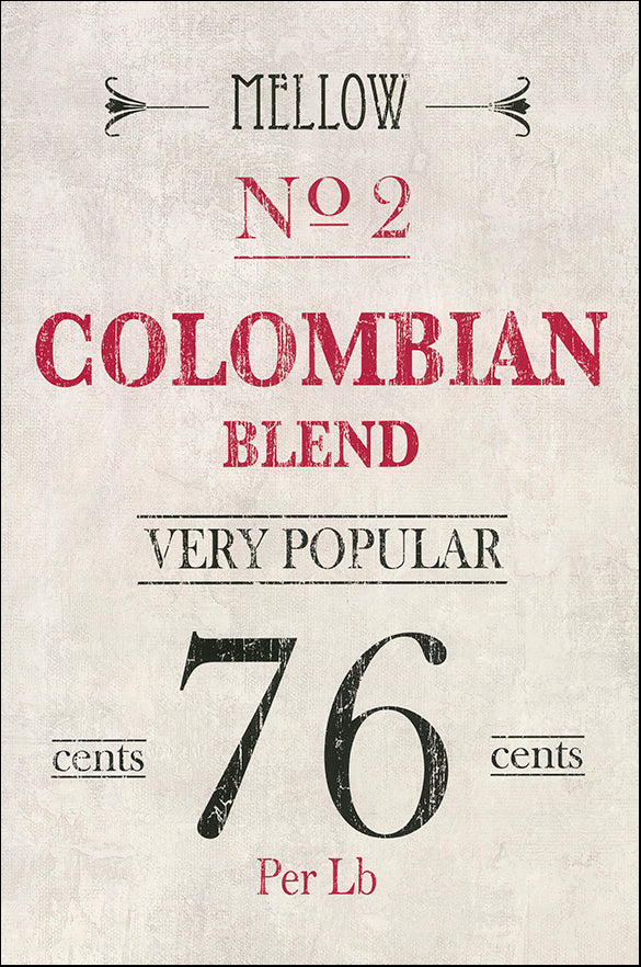 R SPQ5593 Columbian coffee by The Vintage Collection 40x61cm on paper