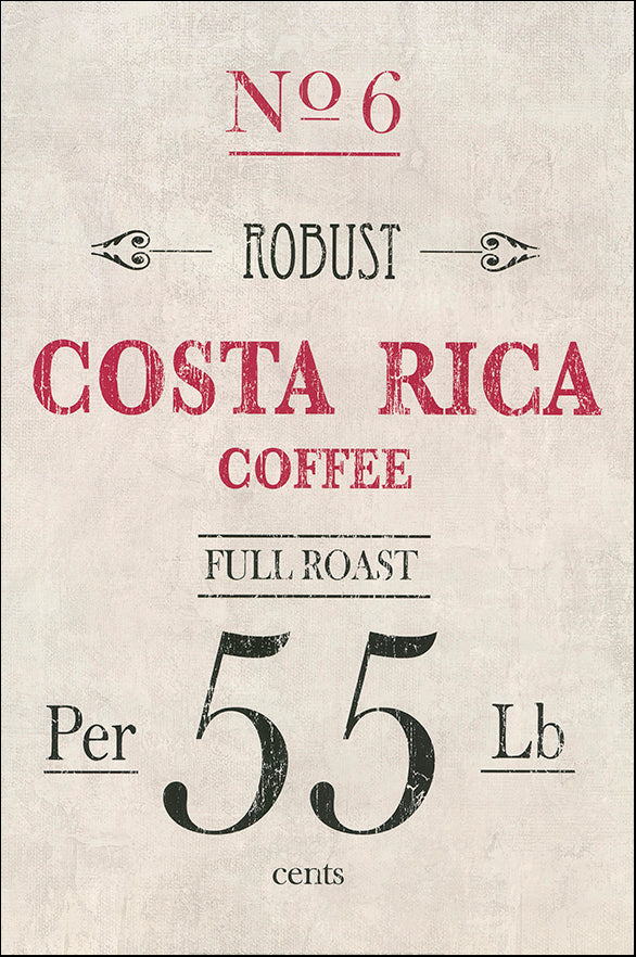 R SPQ5594 Costa Rica coffee by The Vintage Collection 40x61cm on paper