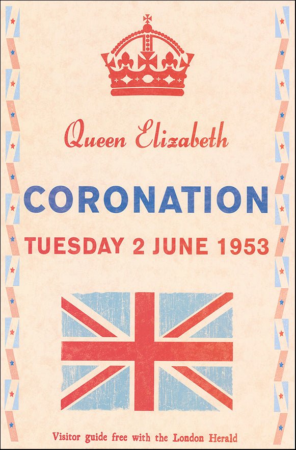 R SPQ5597 Coronation Day 1953 by The Vintage Collection 40x61cm on paper