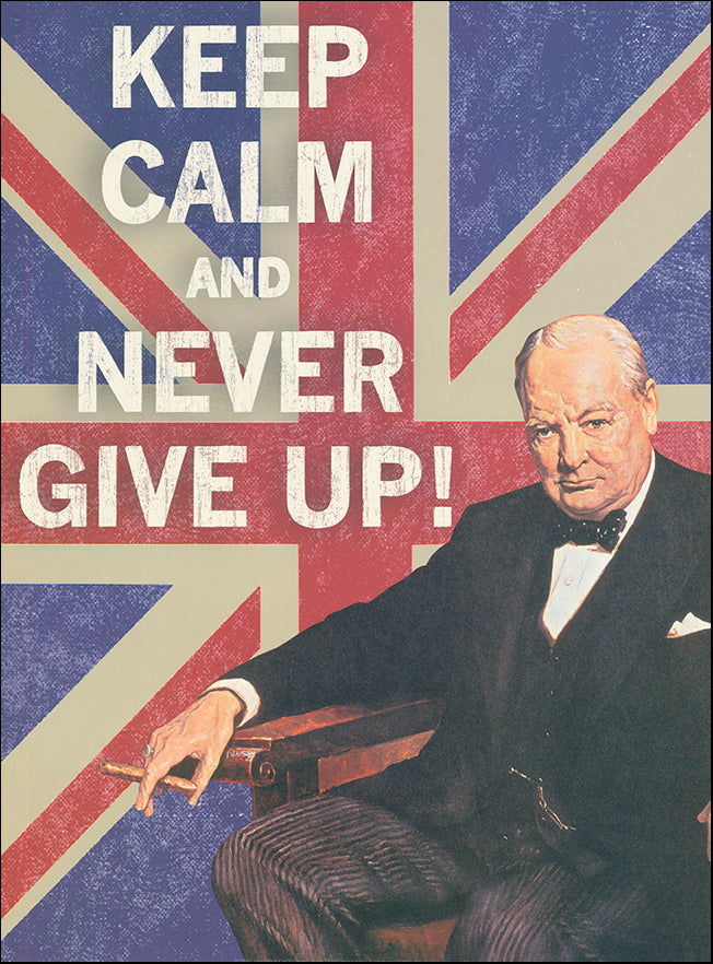 R SPT8543 Keep Calm Brit 1 by The Vintage Collection 45x61cm on paper
