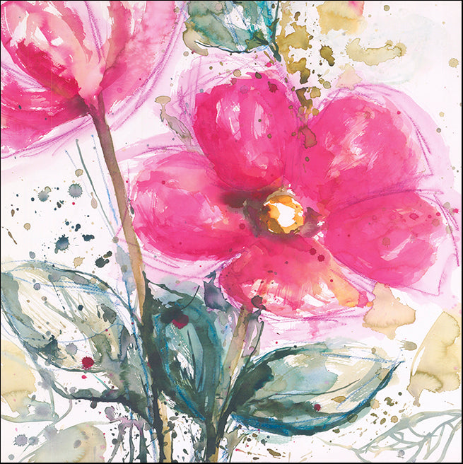R SPV9305 Pink Flower 1 by Lilian Scott 61x61cm on paper