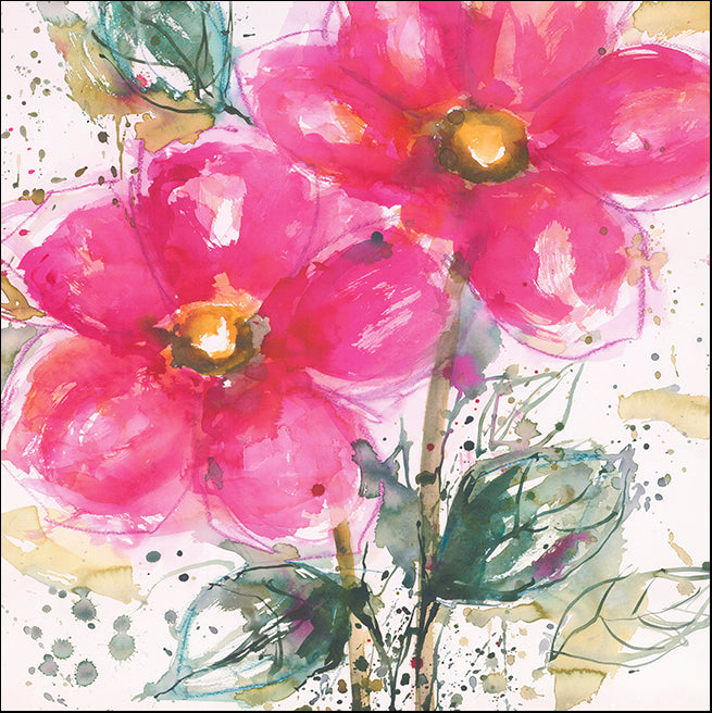 R SPV9306 Pink Flower 2 by Lilian Scott 61x61cm on paper