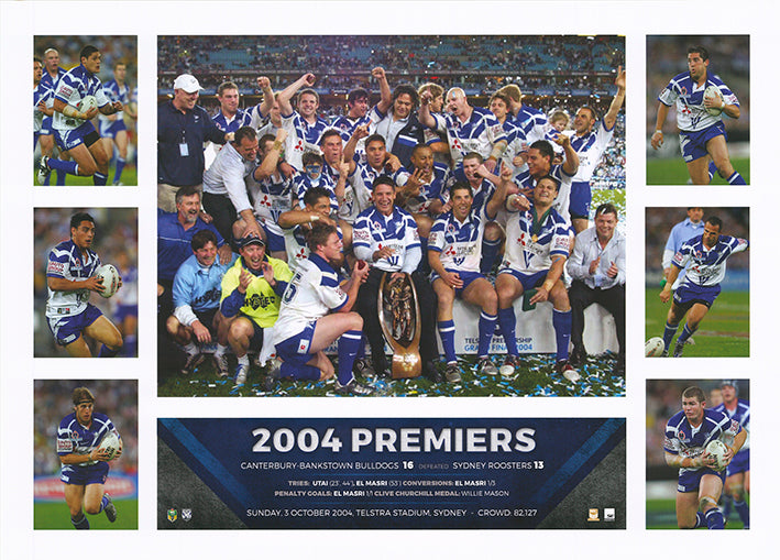 Rugby 2004 Canterbury Bankstown Bulldogs 50x70cm paper - Chamton