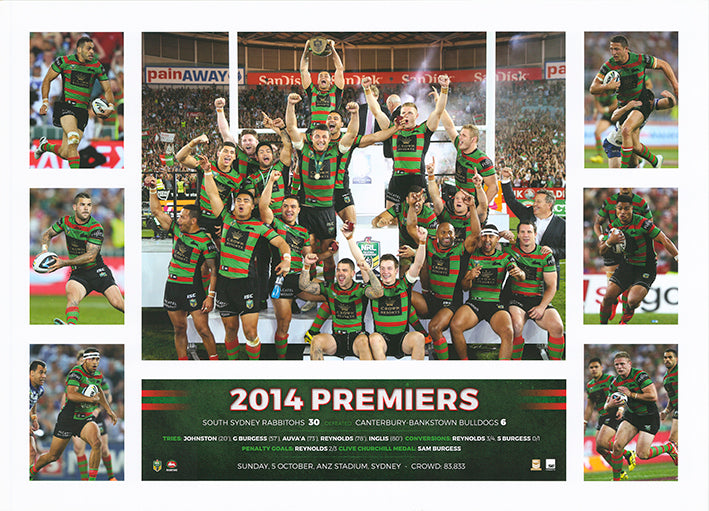 Rugby 2014 South Sydney Rabbitohs Premiers 50x70cm paper - Chamton