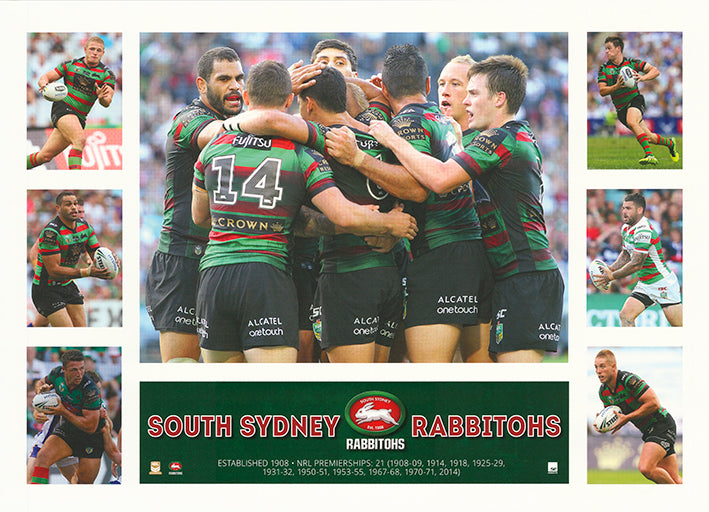 Rugby South Sydney Rabbitohs 50x70cm paper - Chamton