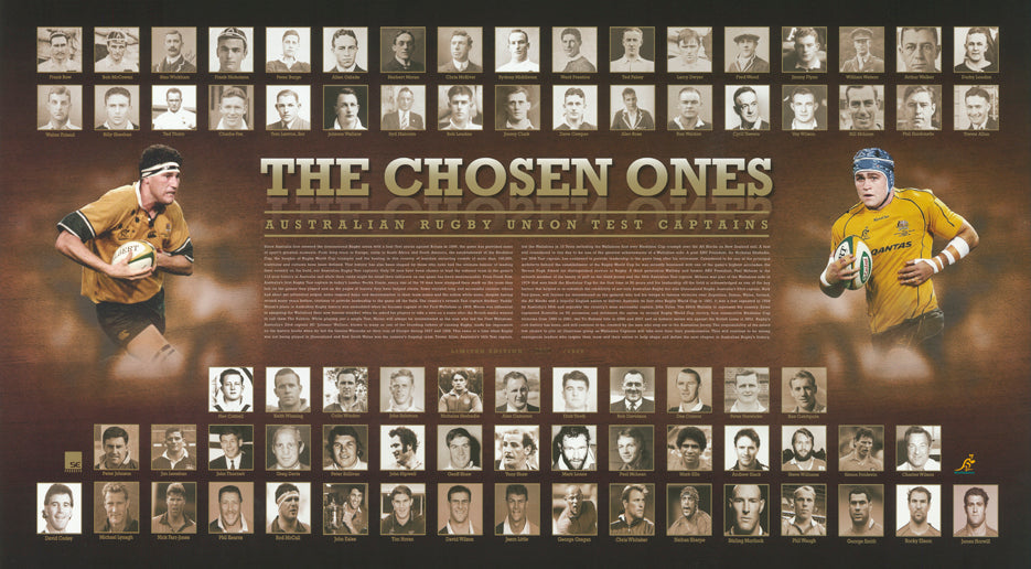 The Chosen Ones Rugby Union Test captains 92x50cm paper - Chamton