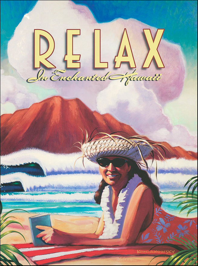 SB WK004 Relax in Enchanted Hawaii by Wade Kondiakowsky 45x61cm on paper