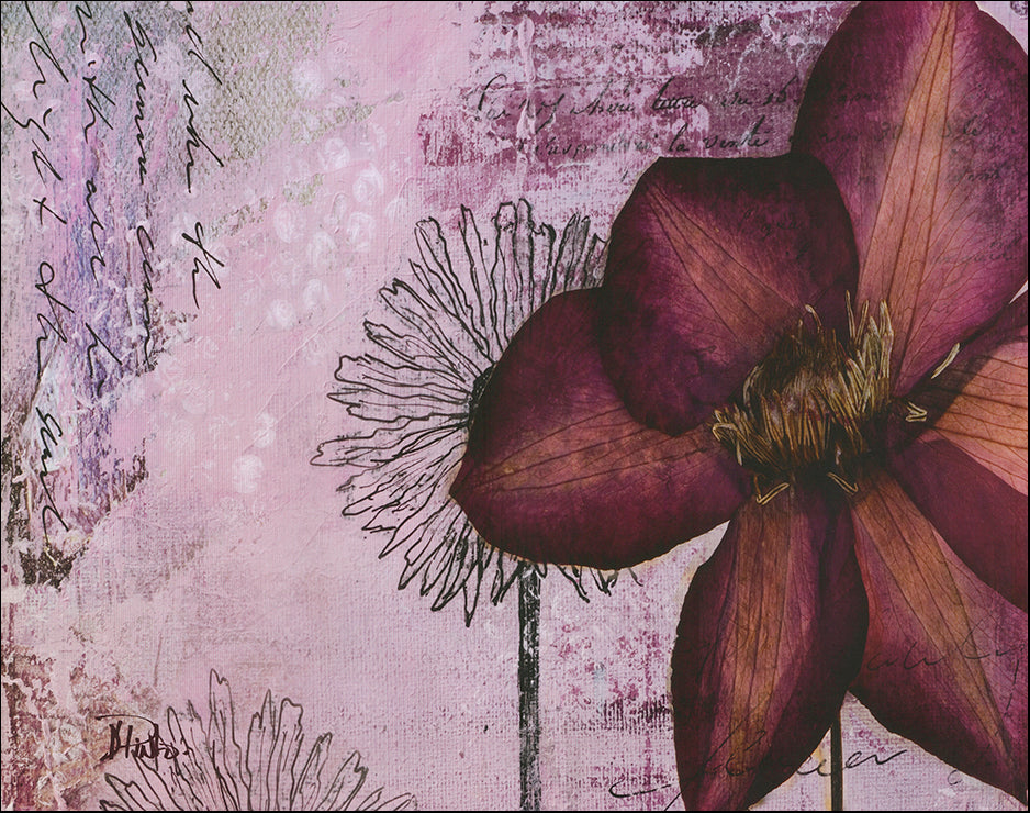 SD 7150 Pressed Flowers 1 by Patricia Pinto 71x56cm on paper