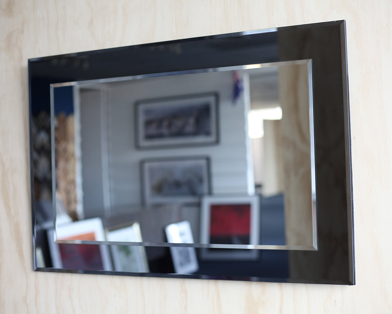 Smokey Mirror 90x60cm ready to hang