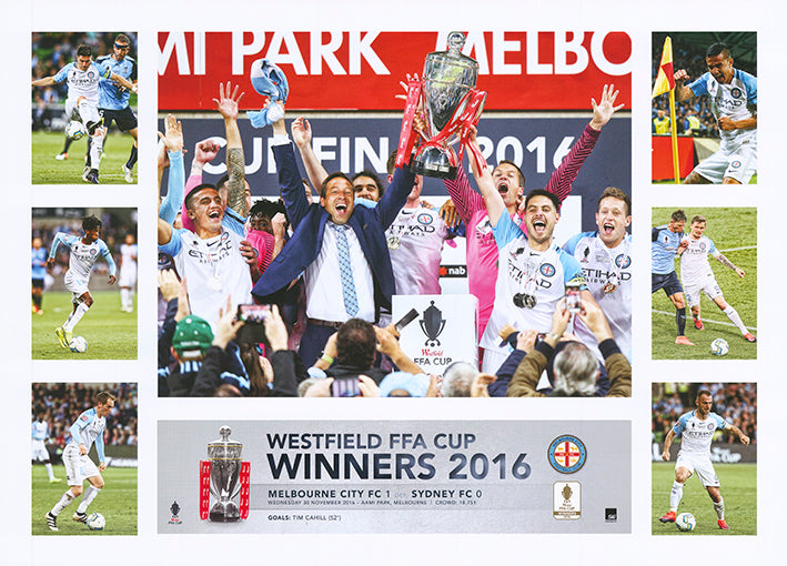 Soccer 2016 Westfield FFA Cup Melbourne City 50x70cm paper - Chamton