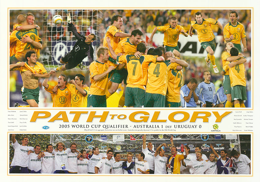 Path to Glory Socceroos 68x48cm paper - Chamton
