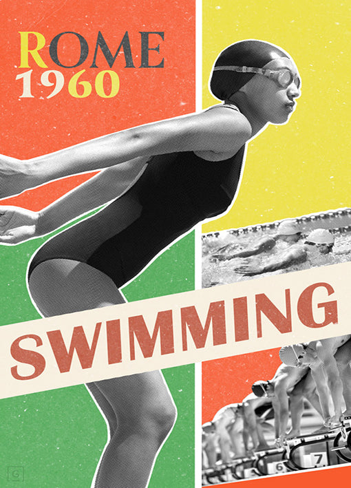 THEstudio,98832 Rome Swimming 1960, by THE Studio, available in multiple sizes