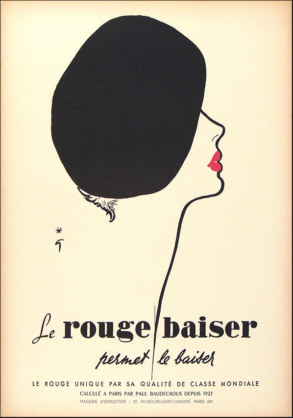 VINAPP116544 Le Rouge Baiser, available in multiple sizes