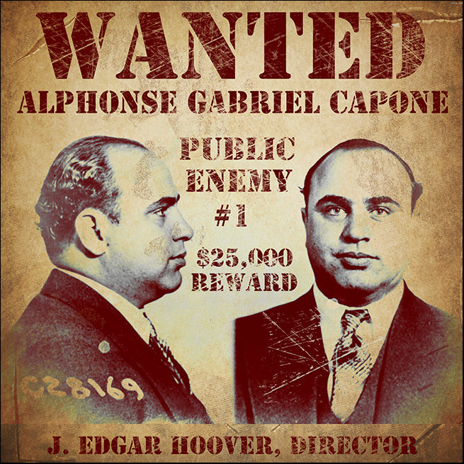 VINAPP120976 Wanted Al Capone , available in multiple sizes