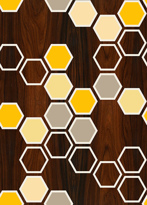 91820 Hex Yellow, by Jef Designs, available in multiple sizes