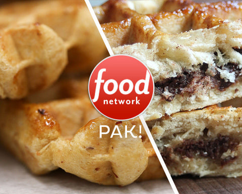 Waffatopia's Food Network featured Waffles