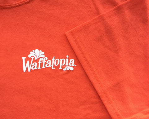 Waffatopia Orange Staff Tee - Short Sleeve