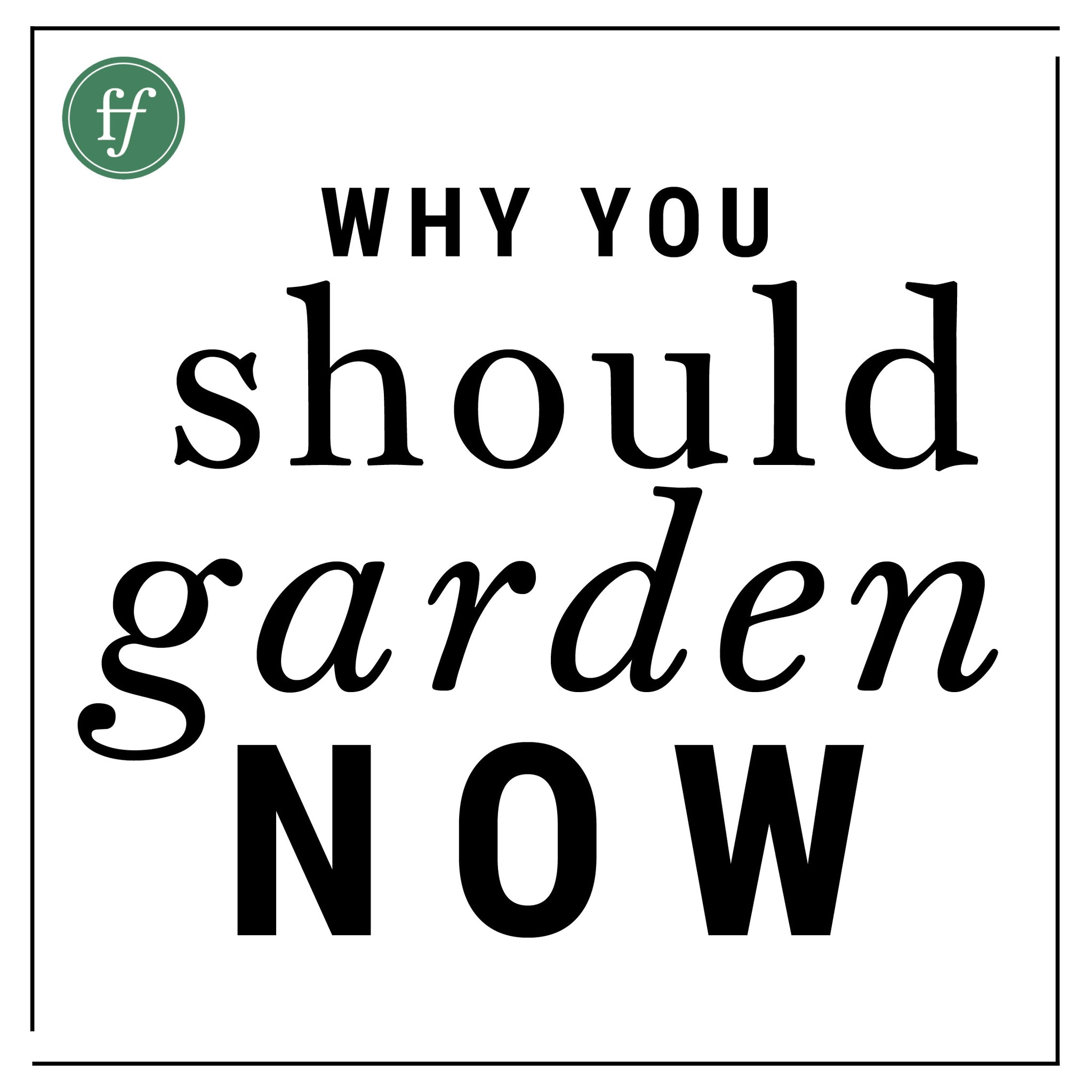 Why You Should Garden | NOW |